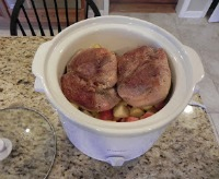 Fall Crockpot Recipes - Pork Sirloin Roast with Fall Fruit