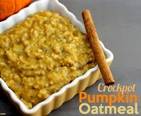 Fall Crock-pot Recipes: Pumpkin Oatmeal