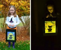 Halloween Crafts: Glow-in-the-Dark Halloween Treat Bags