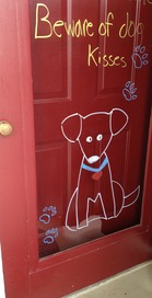 Front door decorated by LiquidChalkers magic markers