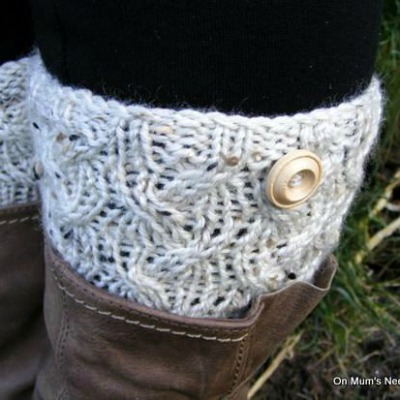 Cable Waves Boot Cuffs