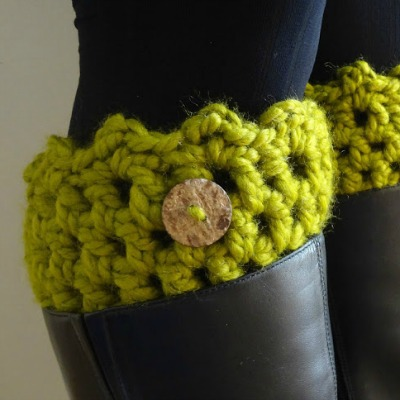 Chunky Crochet Friendship Boot Cuff Pattern