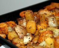 Root Vegetables Roasted and Seasoned for a fabulous Gluten-Free Thanksgiving Side Dish