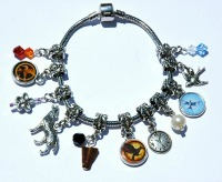Homemade Christmas Gifts for the Hunger Games Fan: Hunger Games Charms & Bracelet