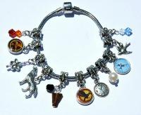 Homemade Christmas Gifts for the Hunger Games Fan: Hunger Games Charms & Bracelet
