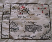 Embroidered Map