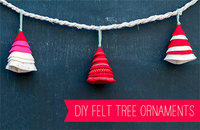 diy felt tree ornaments