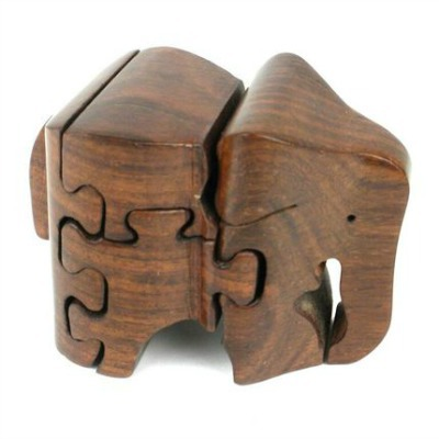 Wooden 3D Elephant Puzzle