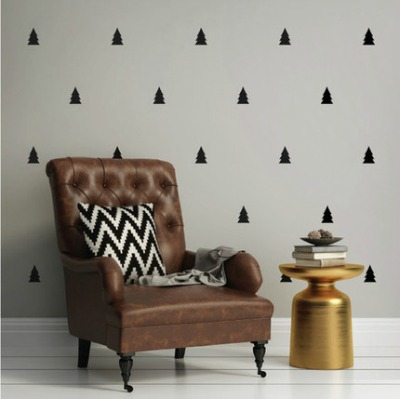 Mini Pine Trees Wall Decals