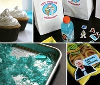 Breaking Bad party decorations food favors