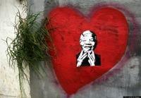 Nelson Mandela heart mural
