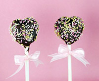 cake pops covered in chocolate and sprinkles