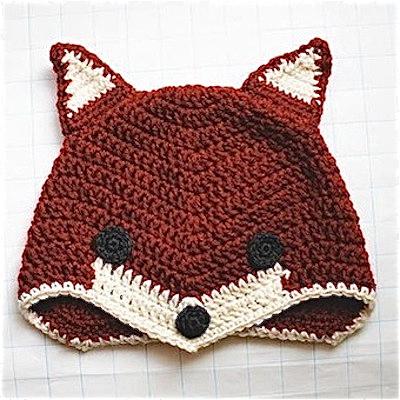 Free fox crochet hat pattern