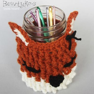 Free crochet fox cozy pattern