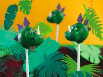Chocolate Cake Recipes to Dream About: Dinosaur Cake Pops