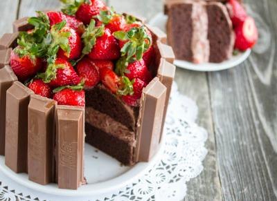 Chocolate Cake Recipes: Kit-Kat Cake