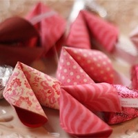 Paper Fortune Cookie Valentine