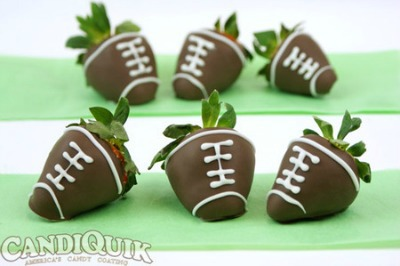 Chocolate Cover Strawberry Footballs and Other Super Bowl Craft and Snack Ideas from CraftFoxes