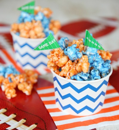 Team Popcorn and Other SuperBowl Ideas from CraftFoxes