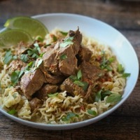 Delicious Crockpot Dinner Recipes: Crockpot Beef Curry with Noodles
