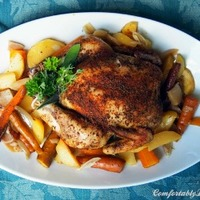 Delicious Crockpot Dinners: Roast Chicken and Root Vegetables