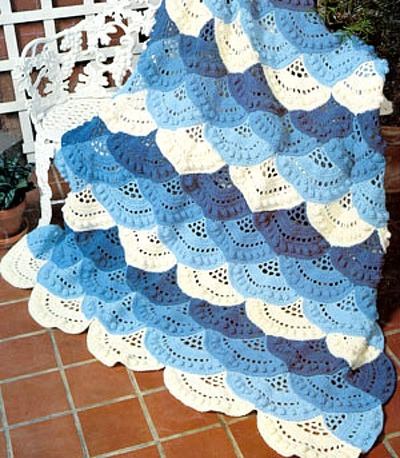 Lacy Shell Crochet Afghan Pattern