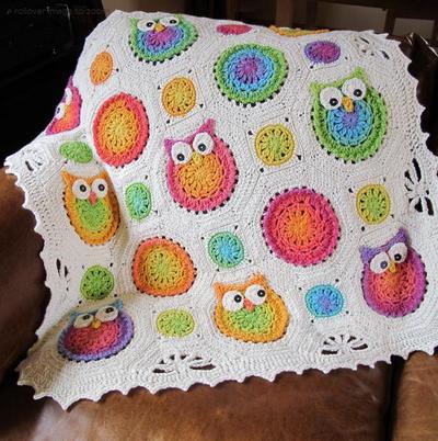 Crochet Owl Afghan Pattern