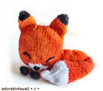 Knit Sleepy Fox Pattern