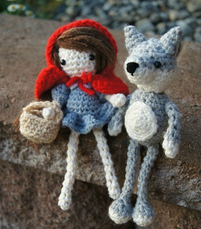 Little Red and Big Bad Wolf Amigurumi, Free Amigurumi Patterns
