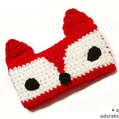 crocheted fox DIY iphone case