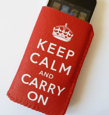 Beer Cozy iPhone Case Keep Calm and Carry On