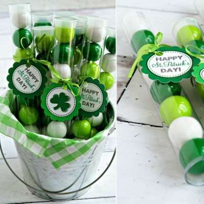 St Patricks Day Gumball Party Favors