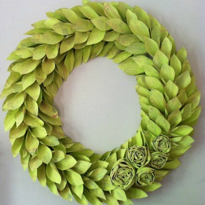St Patricks Day Rag Wreath