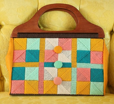Needlepoint Retro Purse