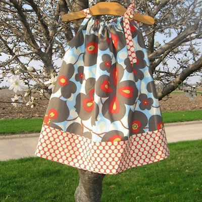 Pillow Case Dress with Doll-Sized Matching Pattern