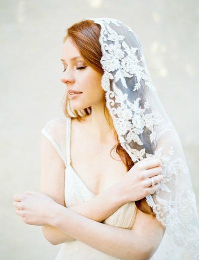Handmade Mantilla Lace Veil