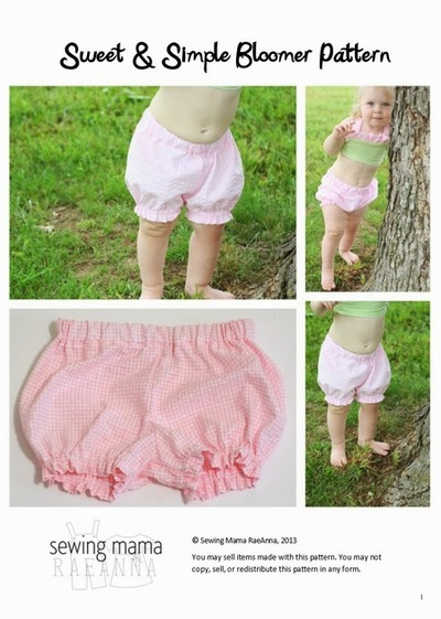 Free Baby Bloomers Sewing Pattern