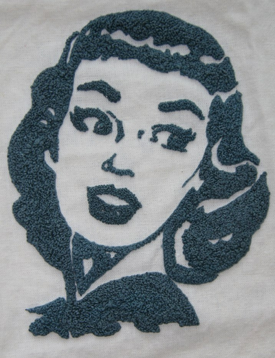 French Knot Retro Portrait