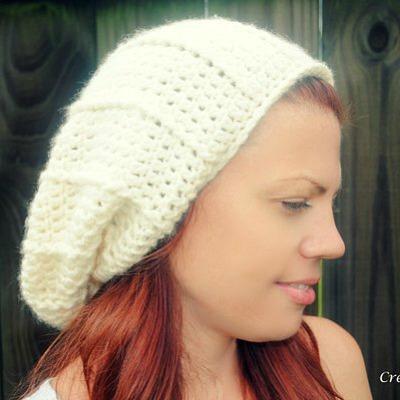 Easy crochet slouch hat