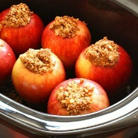 Apples stuffed with a brown sugar and cinnamon mix