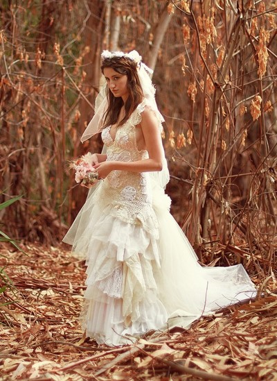 Handmade wedding dresses for the unique bride our for Nature inspired wedding dresses
