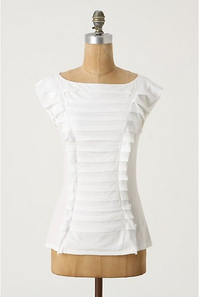 Pleated Anthropologie shirt