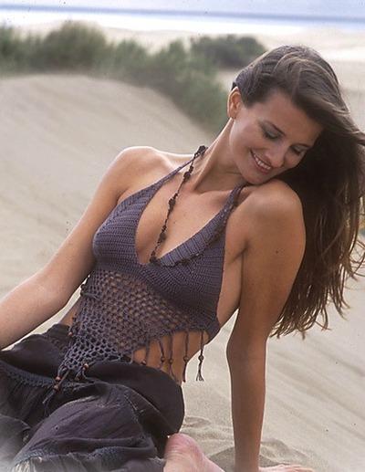 Tassel Crochet Bikini Top