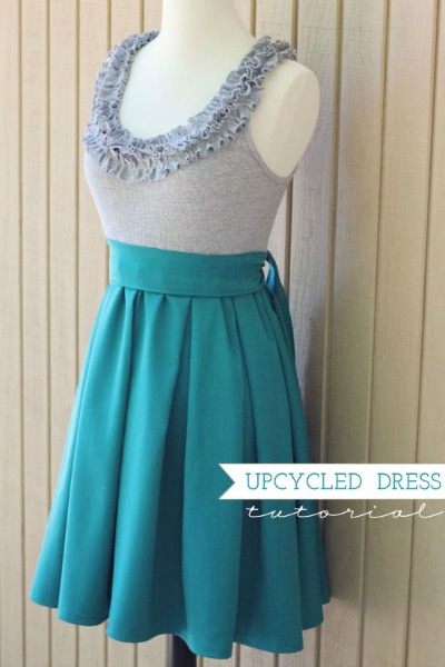 Upcycled ruffles party dress pattern