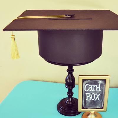 12 crafty graduation party ideas craftfoxes for Table 6 gift card