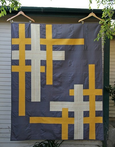 Broken Plaid Straight Line Quilt