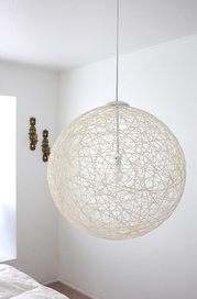 diy string pendant lamp