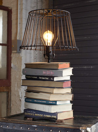 stacked book lamp
