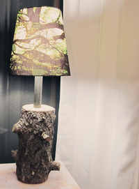 tree stump floor lamp