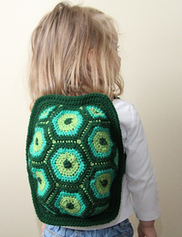 crochet turtle shell backpack
